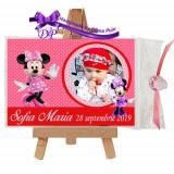 Marturii botez magneti Handmade by Diana Puiu Minnie Mouse MDFM 22