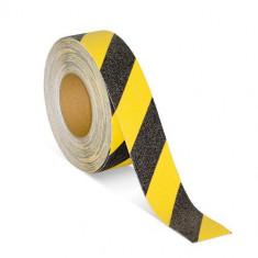 Banda adeziva antialunecare negru/galben 5cm X 5m AF-160720-10