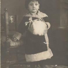 Fotografie copil Ecrene Caliacra Cadrilater poza romaneasca interbelica veche