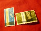 Serie Marea Britanie 1965 - Turnul Postei Londra , 2 val. fara fosfor