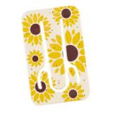 Suport telefon flexibil Floarea Soarelui, TG by AleXer, 8190141, galben, plastic, metal, saculet si laveta incluse