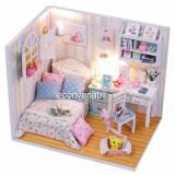 Jucarie Diorama DIY Casuta de Papusi Adalelles Room M013