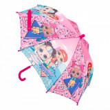 Umbrela pentru copii, model LOL, multicolor, 55 cm