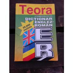 DICTIONAR ENGLEZ -ROMAN, 35000 DE CUVINTE - ANDREI BANTAS