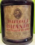 Rare brandy DRIOLI ,  distillato di vino  anni 60 l. 1 gr 40