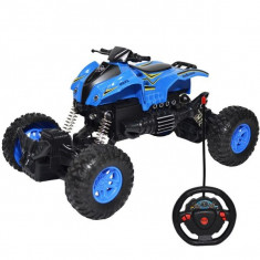 ATV de jucarie cu telecomanda RC 2.4 GHz Rock Crawler suspensii independente off-road 1:18