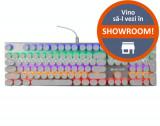 Tastatura Gaming Mecanica MAGIC REFINER 1505, USB, iluminare RGB (Alb)