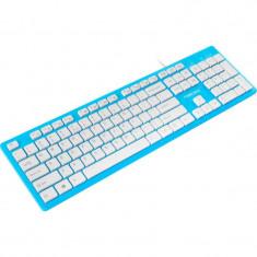 Tastatura Natec Discus Slim Albastru / Alb