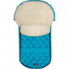Sac de iarna Lambette Exclusive N61 din lana oaie Womar Zaffiro, 95 x 50 cm, Turcoaz