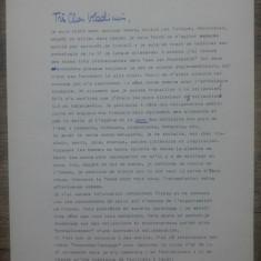 Scrisoare de la Daniel Walther catre Vladimir Colin/ semnata in original