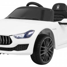 Masinuta electrica Maserati Ghibli, alb