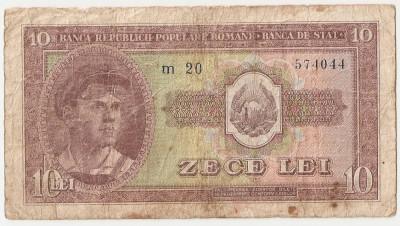 ROMANIA 10 LEI 1952 UZATA foto
