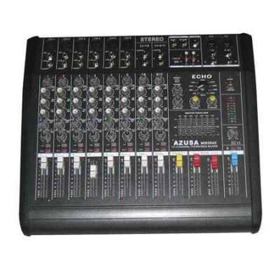 Mixer audio cu amplificator consola dj 10 canale pmq2110 2 x 250w foto