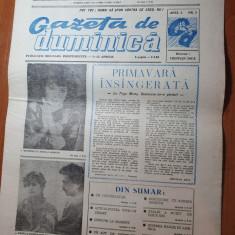 ziarul gazeta de duminica 1-13 aprilie 1990-de vb cu angela similea
