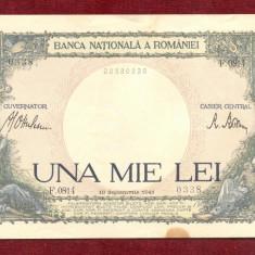Bancnota UNA MIE LEI - 1.000 Lei  1941 - 1000 Lei - Serie F