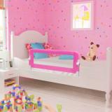 Balustradă de pat protecție copii, 2 buc., roz, 102 x 42 cm, vidaXL