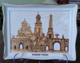 Farfurie decorativă Aplică portelan fin Cetatea Carolina Alba Iulia 2+1 Gratis