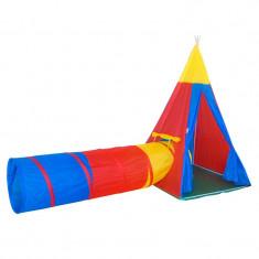Cort tip tunel de joaca pentru copii, 100 x 100 x 160 cm