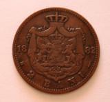 2 BANI 1882 . DETALII FRUMOASE ., Cupru (arama)