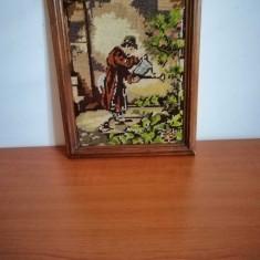 Goblen rama lemn, fara sticla protectie 27.5x21.5 cm