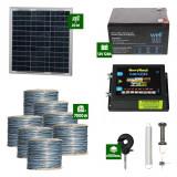 Gard electric Animale Sălbatice 6,6J putere cu Sârmă 7000m și Panou Solar