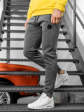 Cumpara ieftin Pantaloni de trening bărbați gri Bolf JX8651