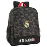 Cumpara ieftin Ghiozdan Real Madrid,negru -roz adaptabil 38cm