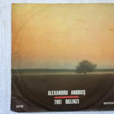 Alexandru andries trei oglinzi ede 3707 album disc vinyl lp muzica folk pop rock, VINIL, electrecord