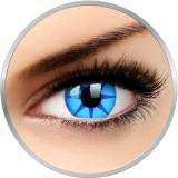 Crazy Blue Star - lentile de contact colorate albastre anuale - 360 purtari (2 lentile/cutie)