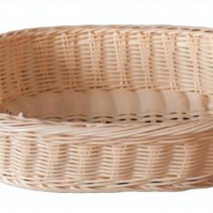 Cos oval prezentare si expunere patiserie, cofetarie rezistent la apa, 48 x 35 x 10 cm culoare natural, 014025