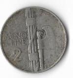 Moneda 2 lire 1925 - Italia, Europa