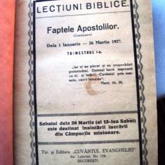 Carte  religie    Culegere   Lectiuni   biblice  1927 - 1930