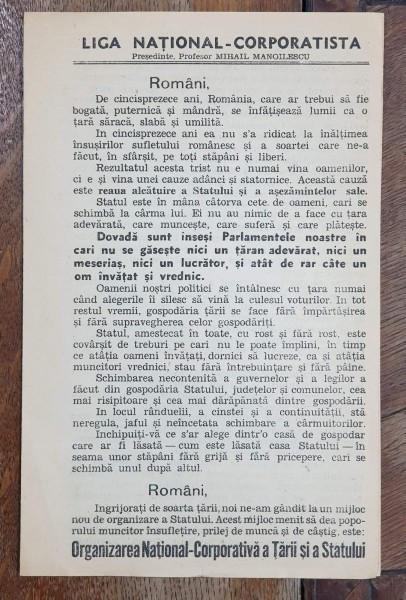 AFIS DE PROPAGANDA LIGA NATIONAL-CORPORATISTA