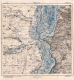 Harta militara romaneasca Hârșova, 1914, Serviciul Geografic al Armatei