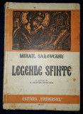 Mihail Sadoveanu - Legende sfinte (prima editie, 1947)