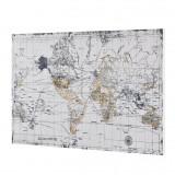 Design fotografie de perete imprimata pe hartie pergament - harta lumii Model...