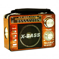 Radio portabil Waxiba XB-1061URT, suport card SD/USB