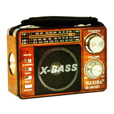 Radio portabil Waxiba XB-1061URT, suport card SD/USB foto