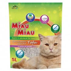 NIsip pentru pisici Tofu cu Lavanda, Miau Miau 6L
