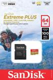 Card de memorie microSDXC Sandisk 64GB Extreme clasa 10, 100MB/s EVO