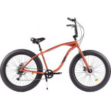 Bicicleta Pegas Fat Bike Cutezator Ev, 7s, Portocaliu Cupru