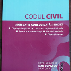 Codul Civil Legislatie Consolidata Si Index noua din Librarie