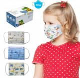 Cumpara ieftin Cutie 50 Masti Faciale de protectie pentru copii 5 modele diferite