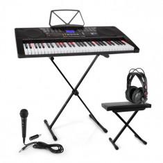 SCHUBERT Etude 225, USB orga, Set complet cu căști și stand & scaun, negru