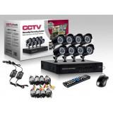 Cumpara ieftin Kit de supraveghere CCTV 8 camere, HDMI, infrarosu, vizualizare de pe internet, calculator, telefon