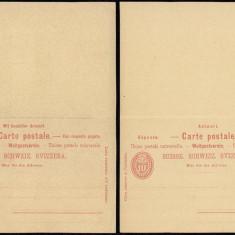 Switzerland - Postal History Rare Old Postal stationery + Reply UNUSED DB.119