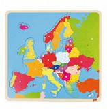 Puzzle lemn Europa, 35 piese, Goki