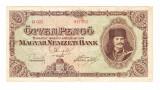 Bancnota Ungaria 50 pengo 5 aprilie 1945, circulata, stare buna