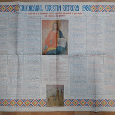 calendar vechi Crestin Ortodox 1980
