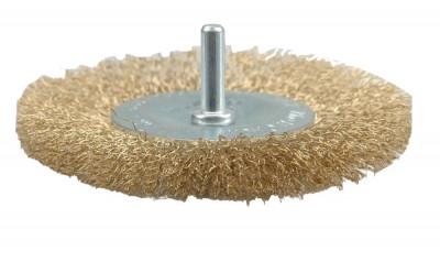 Perie circulara din sarma cu tija 75 mm VOREL foto